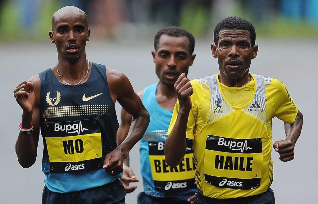 Mo FARAH Haile Gebrselassie and Bekele