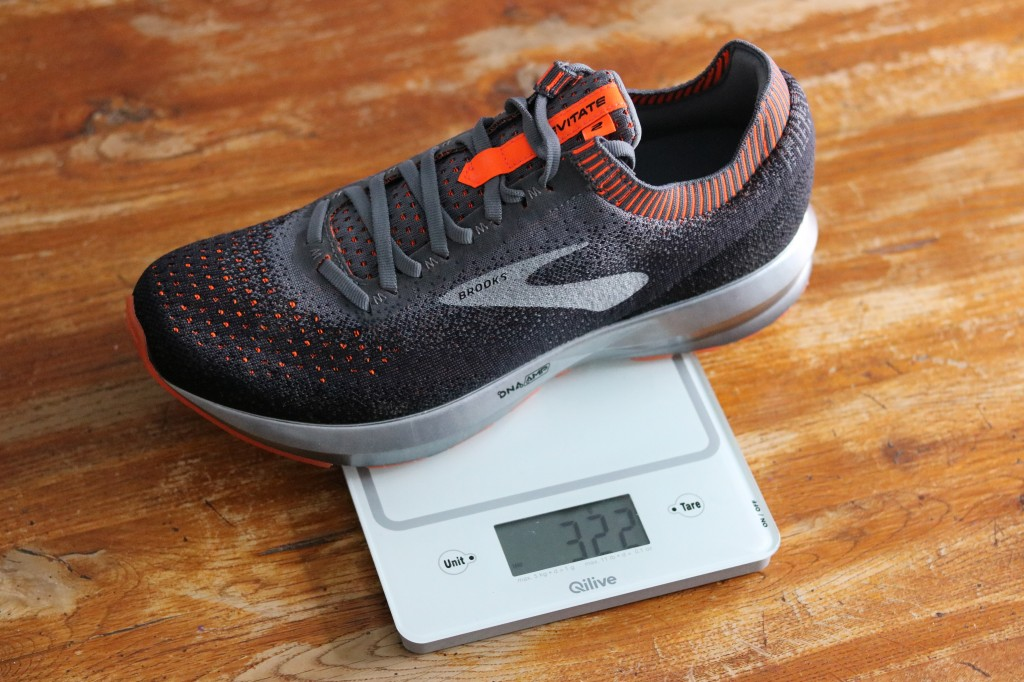 BROOKS LEVITATE 2 RUNNING DNA AMP KNIT POIDS WEIGHT
