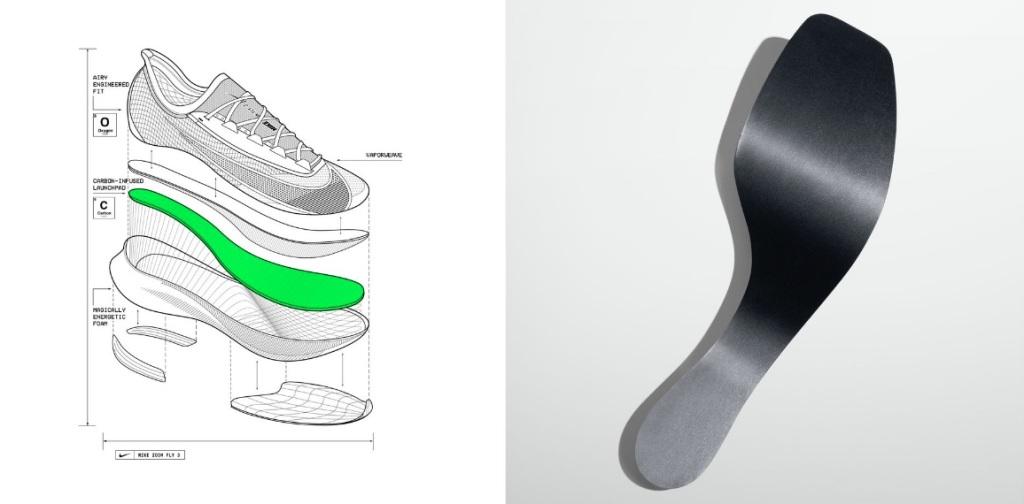 Ceci n'est pas une spatule pour faire des crêpes mais la plaque carbone de la Zoom Fly 3.